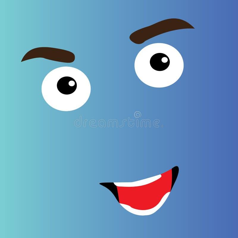 Cara feliz de la historieta ilustración del vector