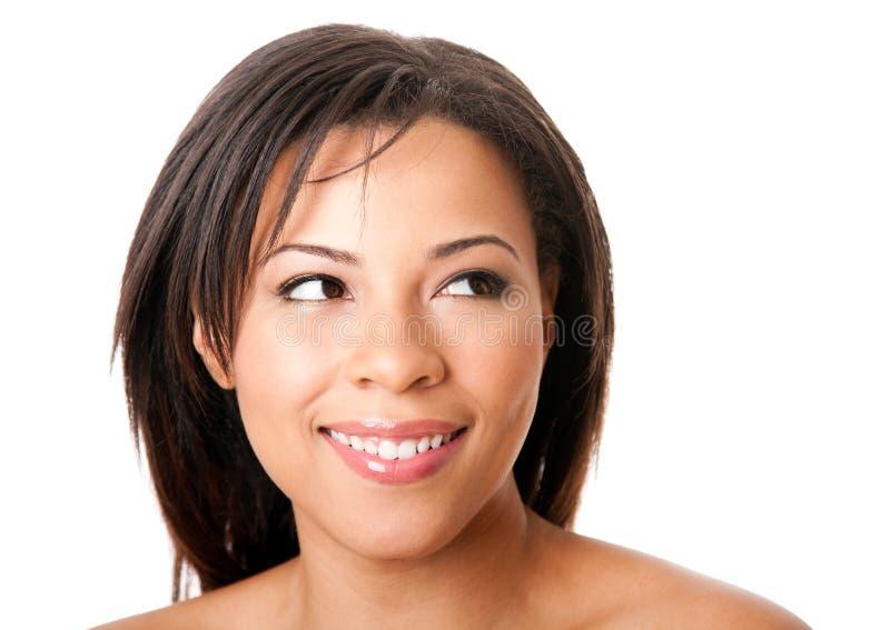 Cara feliz hermosa de la mujer imagen de archivo