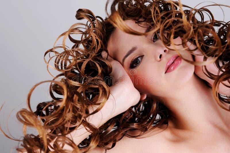 Cara femenina expresiva hermosa imagenes de archivo