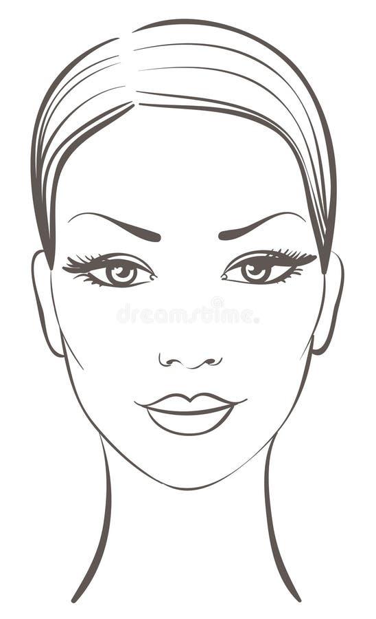 Cara hermosa de la mujer libre illustration