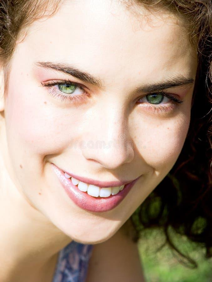 Cara hermosa de la mujer fotos de archivo