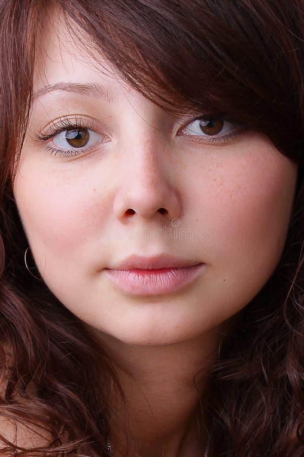 Cara hermosa de la mujer joven fotografía de archivo libre de regalías