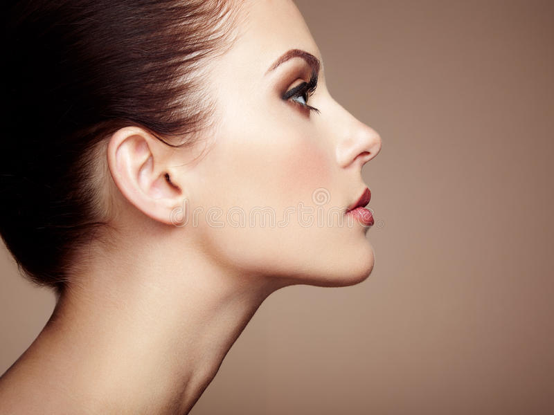 Cara hermosa de la mujer Maquillaje perfecto fotos de archivo libres de regalías