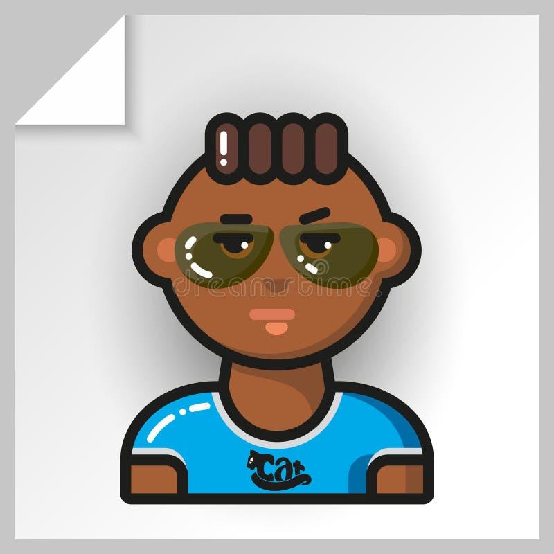 Cara icons_26 dos povos ilustração stock