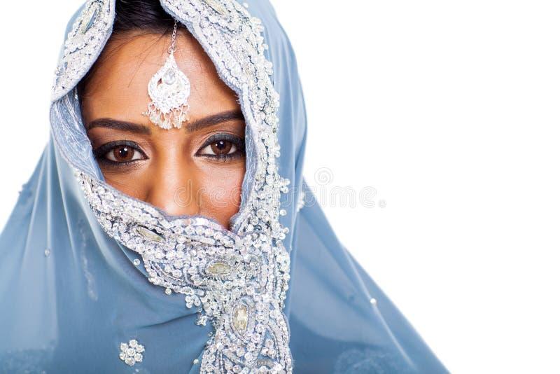 Cara indiana da mulher imagens de stock