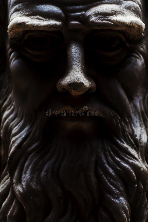 Cara inteira da opinião frontal clara forte de Leonardo da Vinci fotos de stock royalty free