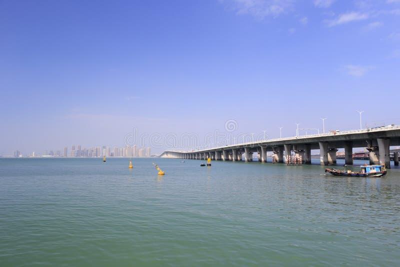 Cara lateral da ponte do xinglin fotografia de stock