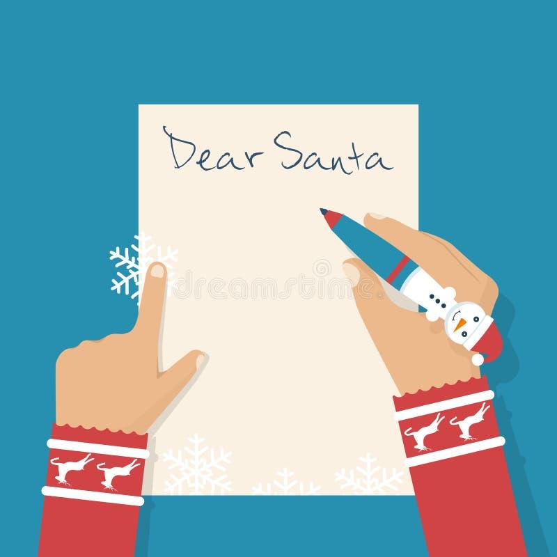 Cara letra de Santa ilustração do vetor