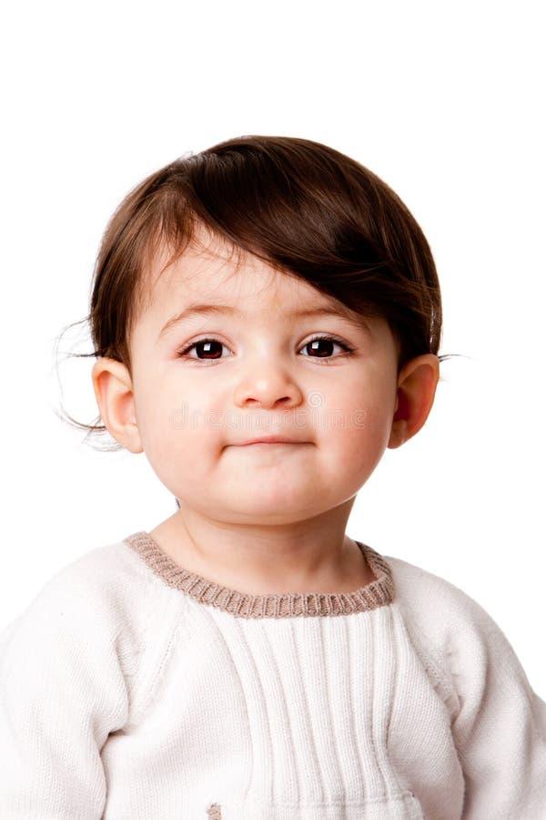 Cara linda del niño del bebé imagen de archivo