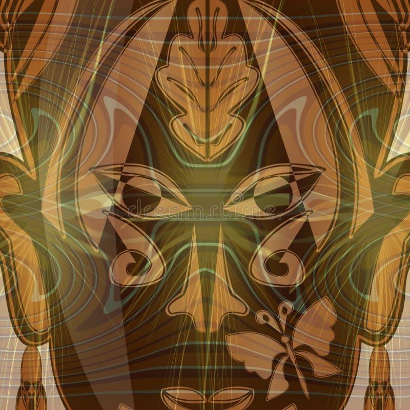 Cara místico abstrata da mulher ilustração stock