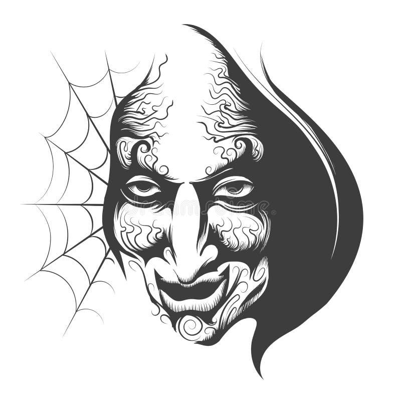 Cara malvada del mago libre illustration