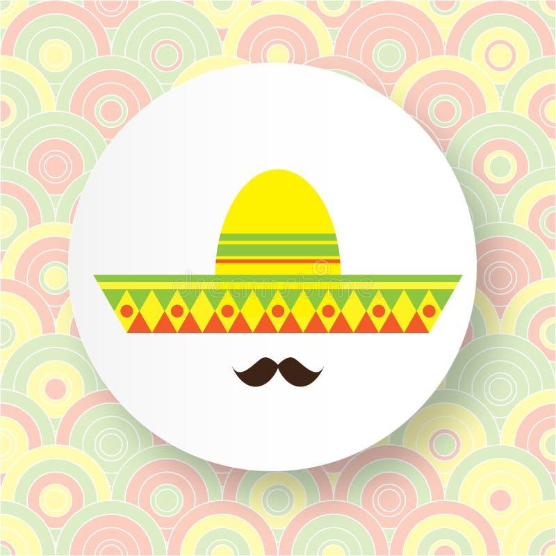 Cara mexicana abstracta con el bigote grande libre illustration