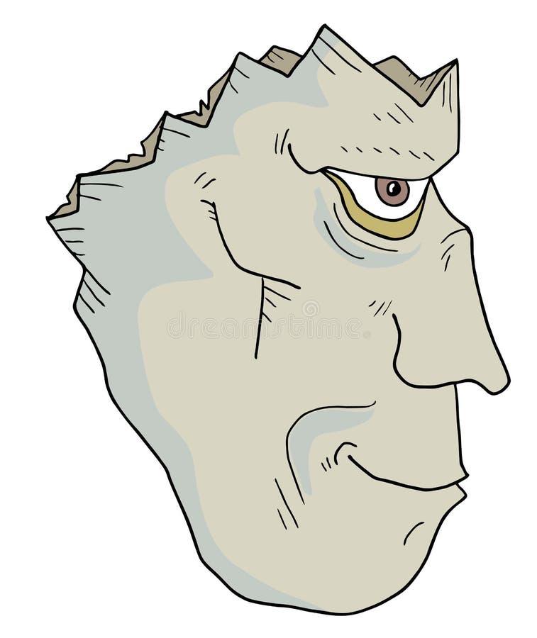 Cara muerta de Halloween ilustración del vector