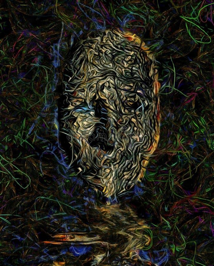 Cara oscura ilustración del vector