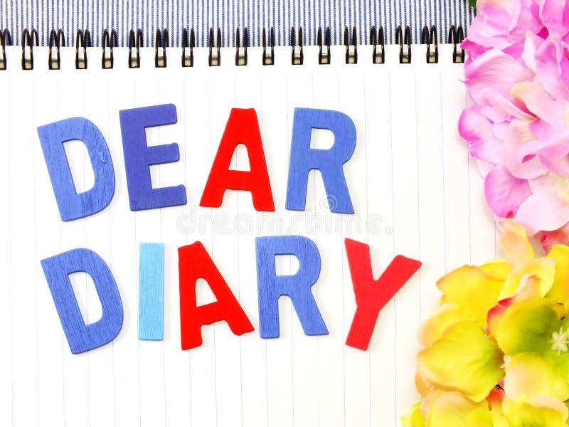 Cara palavra do diário foto de stock