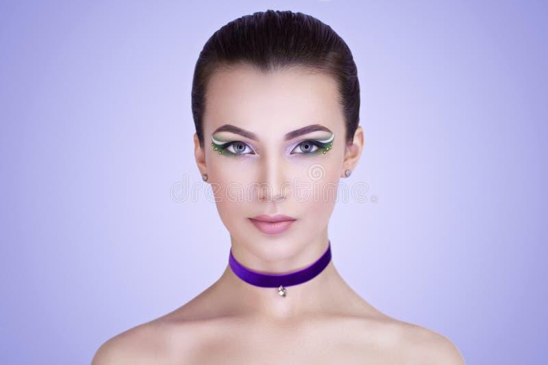 Cara perfecta de la mujer imágenes de archivo libres de regalías