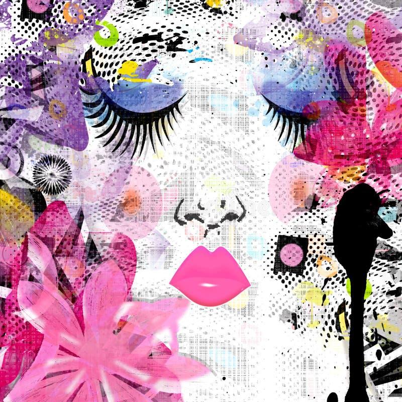 Cara pintada de la muchacha de la primavera libre illustration