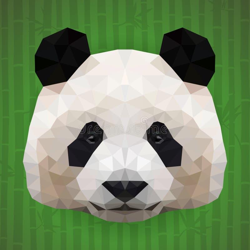 Cara poligonal da panda ilustração do vetor