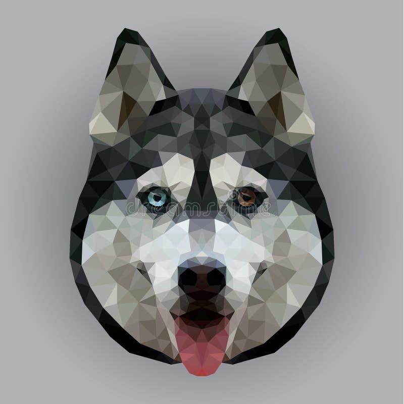 Cara poligonal do cão ilustração do vetor