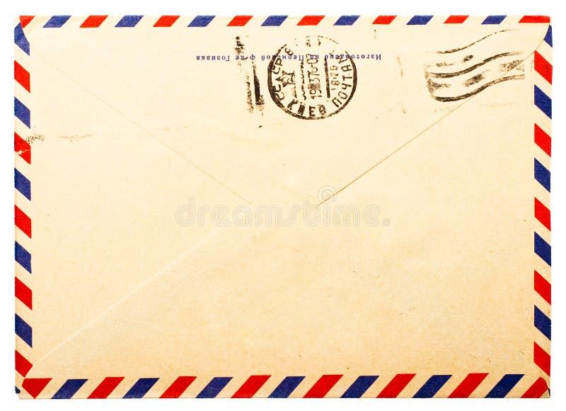 Cara posterior del sobre viejo imágenes de archivo libres de regalías