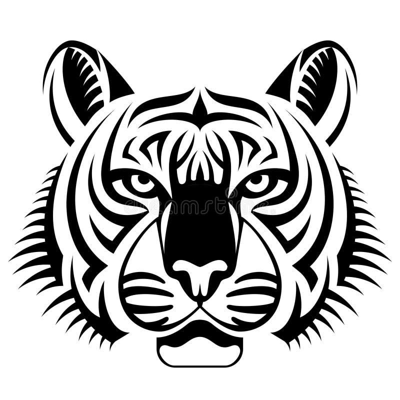 A cara realística do tigre anticipa ilustração do vetor