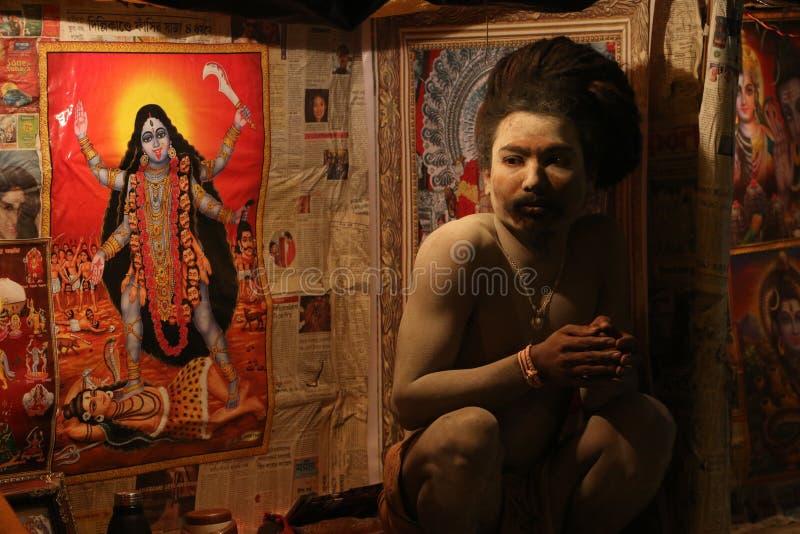 Cara religiosa indiana fotografia de stock royalty free