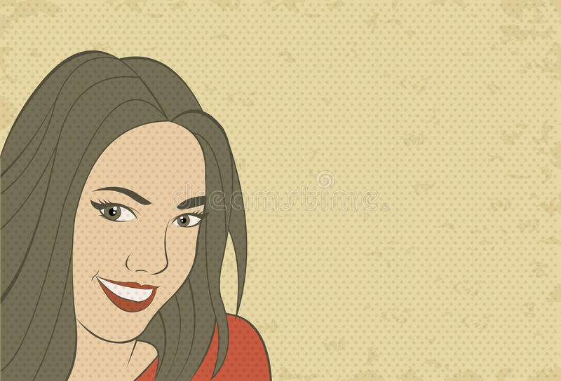 Cara retra hermosa de la mujer libre illustration