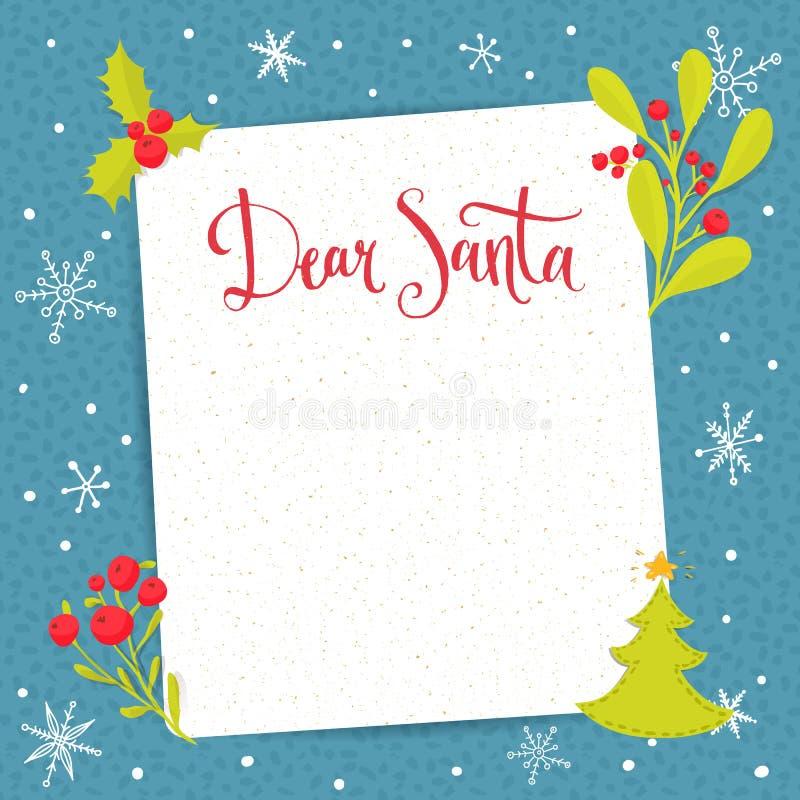 Cara Santa - letra a Santa Claus com placa ilustração royalty free