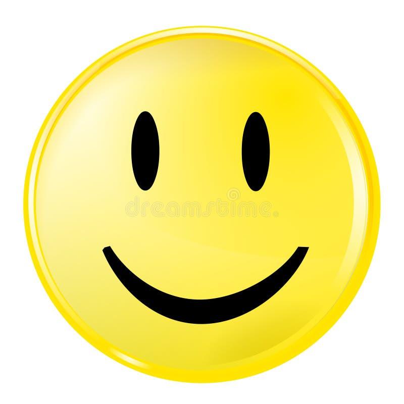 Cara sonriente amarilla stock de ilustración
