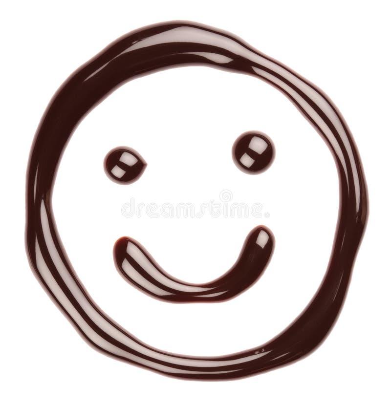Cara sonriente del chocolate imagen de archivo libre de regalías