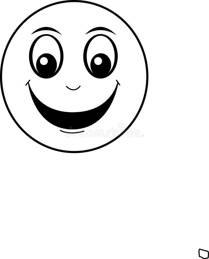 Cara sonriente feliz ilustración del vector