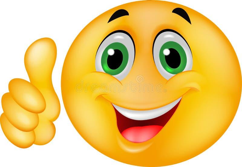 Cara sonriente feliz del Emoticon stock de ilustración
