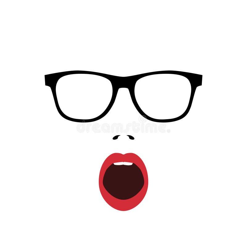 Cara sorprendida extracto de la mujer libre illustration