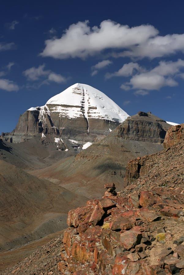 A cara sul de Mount Kailash sagrado fotos de stock
