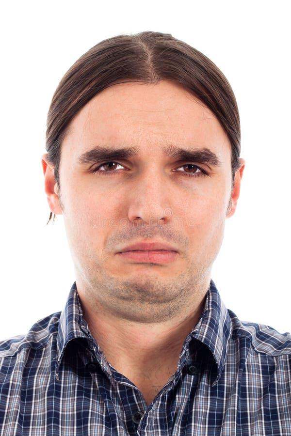 Cara triste infeliz del hombre fotos de archivo libres de regalías