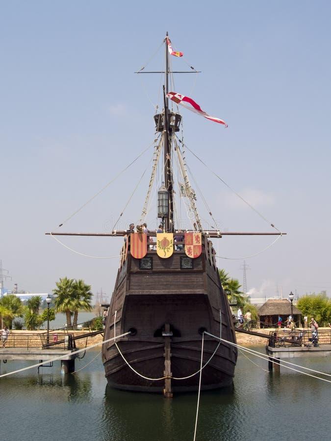 Carabela de Cristobal Colon en Palos Port fotografía de archivo