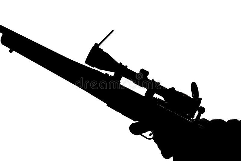 Carabina da ação do parafuso com um espaço na mão de um homem Espingarda de longo alcance, foto conceptual Lugar para o texto fotos de stock royalty free