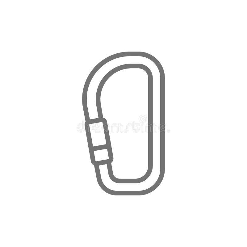 Carabina di vettore, linea icona del supporto illustrazione vettoriale