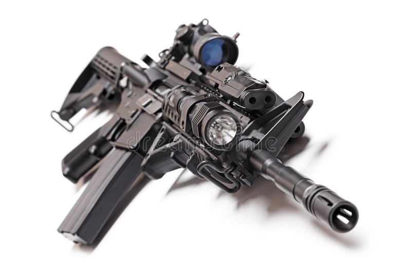 Carabina táctica AR-15 fotos de archivo libres de regalías