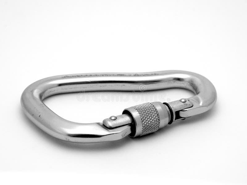 Carabiner rampicante dell'alluminio immagine stock