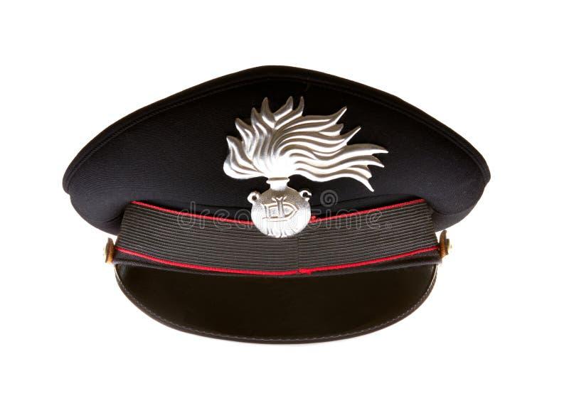 carabiniere καπέλο ιταλικά carabinieri στοκ εικόνες