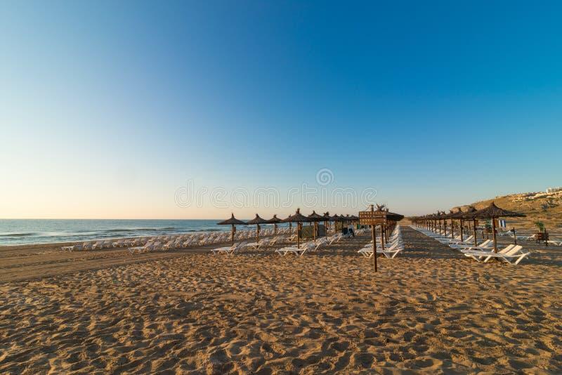 Carabssi海滩,阿利坎特 库存照片
