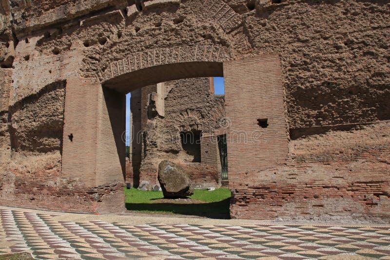 Caracalla浴的废墟在罗马 库存图片