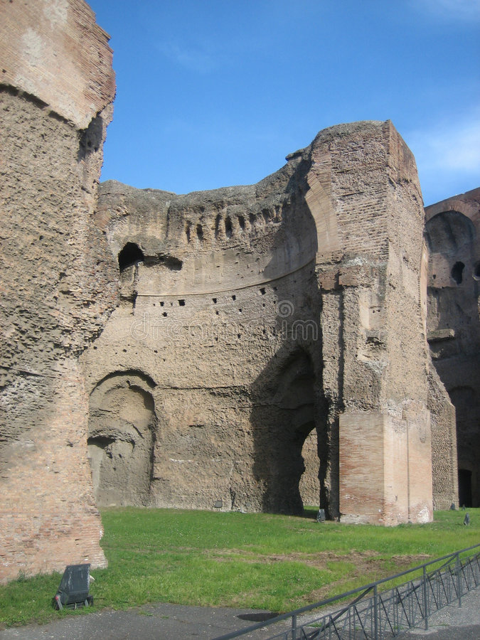 Caracallas Bäder lizenzfreie stockfotos