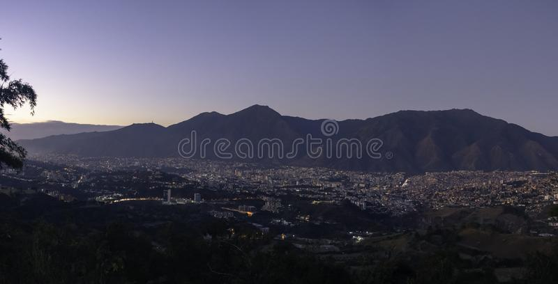 Caracas with the Avila Mountain royalty free stock images