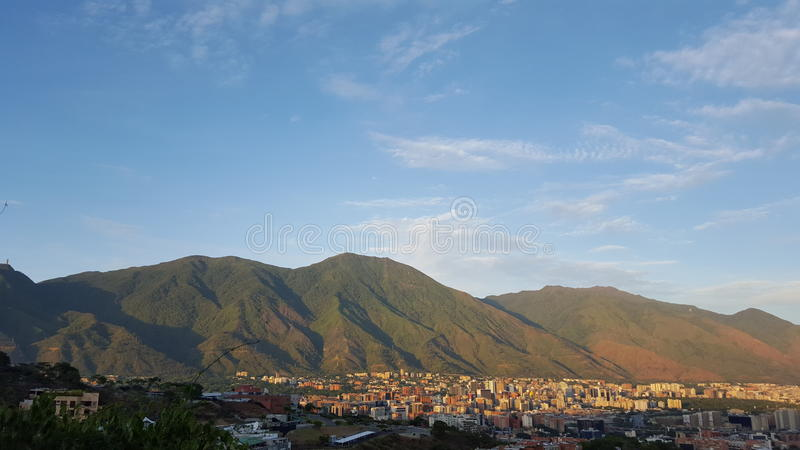 Caracas and Avila mountain o cerro Avila royalty free stock images