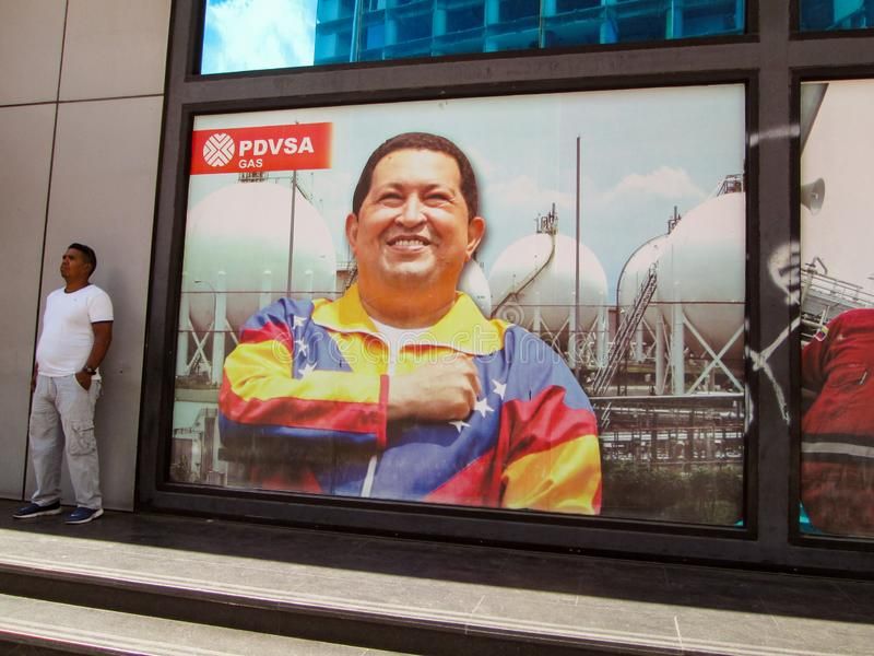 Caracas.Iconic state gas company of the Bolivarian Republic of Venezuela, PDVSA GAS, which is part of the PDVSA oil company. Caracas, Venezuela.Iconic state gas stock photo