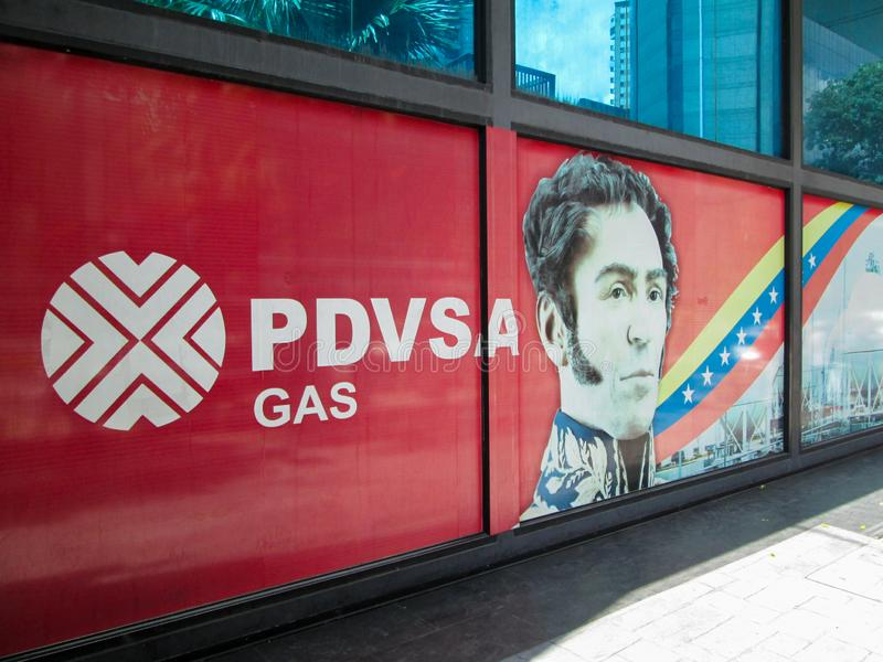 Caracas. Iconic state gas company of the Bolivarian Republic of Venezuela, PDVSA GAS, which is part of the PDVSA oil company. Caracas, Venezuela.Iconic state gas royalty free stock photography