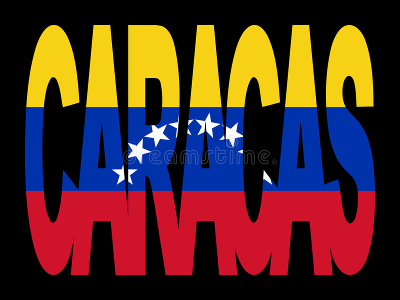 Download Caracas text with flag stock vector. Image of venezuela - 4370111