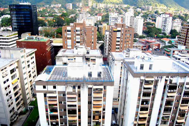 Caracas Venezuela. Aerial view of modern houses in Caracas, Venezuela stock photography